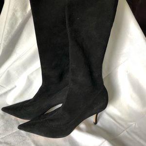 JIMMY CHOO Women's City Boots, sz 40, Suede Heels